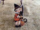 "Repro Vintage 1900s Boy Holds Cat JOL Halloween Mini Decoration,2"",2 1/2"" OR 3"""