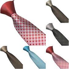 Men's Ties Solid Color Knot Contrast Polka Dot Necktie Skinny Tie 6cm(5 Color)