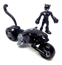 Fisher Price Dc Batman Imaginext Toys Catwoman Figura & catbike Set Raro