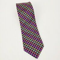 "Murano Collezione Men's 100% Silk Tie Hand-Tailored in USA 58"" Length 3.5"" Wide"