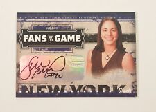 2005 Donruss/Playoff Prestige SUE BIRD Fans of Game #FG4 AUTOGRAPH Card Storm