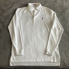 Men's Peter Millar Summer Comfort Long Sleeved 100% Poly Polo Golf Shirt Small