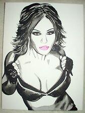 Canvas Painting Wrestler Velvet Sky C B&W Art 16x12 inch Acrylic