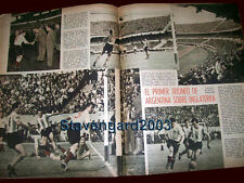 SOCCER - ARGENTINA TEAM vs ENGLAND 16 pages Rare Original Magazine 1953
