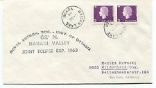 1963 Univ. of Ottawa Nahani Valley Joint Eclipse Yukon Watson Lake Polar Cover