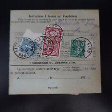 COLIS (PACCHI) POSTALI NEWSLETTER D'SPEDIZIONE ALSACE LORRAINE ALTKIRCH CAD 1923