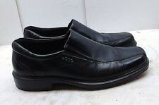 1e12f86f7c7 ECCO Helsinki Men s Black Leather Loafer Bicycle Toe Dress Casual Shoes 10  ...
