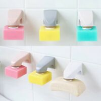 Magnetic Soap Holder Dispenser Container Adhesion Bathroom Wall Attachment Dish
