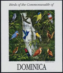 Dominica 1545 MNH Birds, Waterfall
