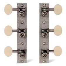 Golden Age restoration tuners, solid headstock, relic nickel, matt cream button