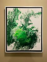 Envy | Green Abstract original modern acrylic canvas painting | ships free