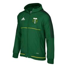 Portland Timbers MLS Adidas Men's Climalite Green Full Zip Hooded Travel Jacket
