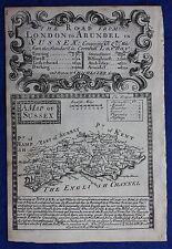 Original antique map ENGLAND, SUSSEX, Emanuel Bowen, 1724