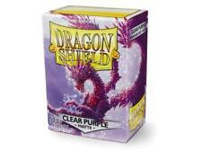 Dragon Shield Card Sleeves Deck Protector 100 matte CLEAR PURPLE MAGIC POKEMON
