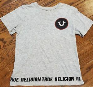 True Religion Boys Size M 10-12 Gray T-Shirt Top EUC! Fast Ship!
