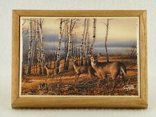 """Terry Redlin Deer & Buck 6 1/2"""" x 5"""" Wall Plaque"""