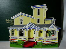 Shelia's Collectible 1995 Victorian Home Halstead House Coldwater Mi w/ Box