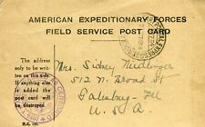 AEF USA Army Postal Express Service # 704 1918 Cover Midlonger Family Galesburg