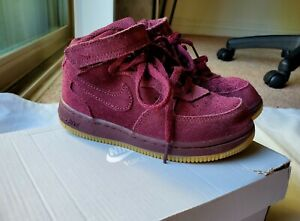 Nike airforce High top sneakers kids suede shoes for children size 10