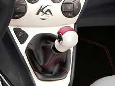 Genuine Ford Ka Gear Lever Knob -  Pearl White / Red insert (1679596)