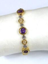 Armbänder mit Edelsteinen echten Diamant aus mehrfarbigem Gold für Damen