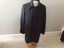 I N C International Concepts Grey Gray Black Jacket New Zip Front Coat M Men's