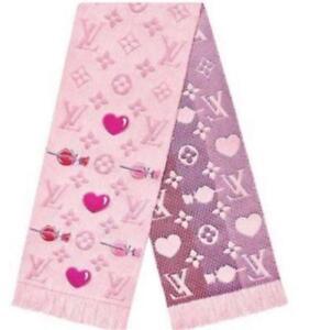 LOUIS VUITTON Echarpe Logomania A La Folie Muffler Scarf Pink M71587 Auth New