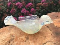 Vtg Murano Fratelli TOSO OPALESCENT Song BIRD ArT GLaSs Italy BULLiCANTe 50s