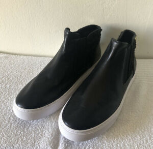 Tory Burch Womens Botties Black Leather With Design Sz 10
