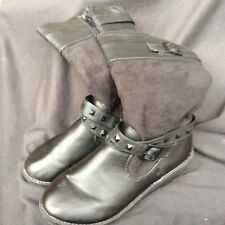 girls black marks and spencer boots size 6