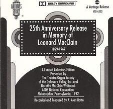 25th Anniversary Release In Memory of Leonard MacClain