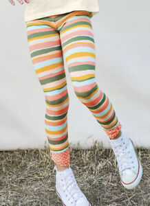 Matilda Jane ALL STRIPED OUT Leggings Girls' 6 Pants Bow Detail Dream Chaser