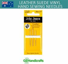 JOHN JAMES LEATHER SUEDE VINYL HAND SEWING NEEDLES POINTY GLOVERS LEATHERWORK