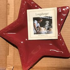 Longaberger 2009 Star Shaped Woven Traditions Paprika Plate Made In The Usa Nib