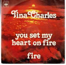 disco 45 GIRI Tina CHARLES YOU SET MY HEART ON FIRE - FIRE