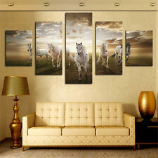 Running Horse Large HD Modern Home Wall Decor Abstract Canvas Print Oil Painting