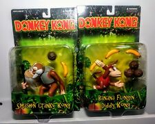 Vtg Nintendo Donkey Kong Toy Site 1999 Cranky and Diddy Kong Figures Rare MOC