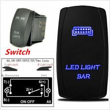 Laser Etched Blue LED Light Bar Rocker Switch 24V 20A Carling Narva Nissan Hilux