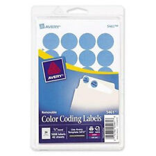 "10,080 Avery Labels / Light Blue 3/4"" Round Color Coded Inventory Stickers Dots"