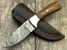 ASH d701w Damascus steel custom handmade hunting skinner knife 8""