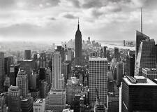 GIGANTE Murale Parete NEW YORK CITY carte da parati 368x254cm Nero & Bianco Cityscape ART