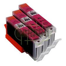 3 MAGENTA CLI-251XL CLI-251M Ink Set for Canon Pixma MX722 MX922 CLI251 New CHIP