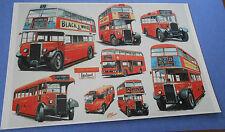 London Leyland Buses (8 Uk Double Decker Buses 1930-1970) New Bus Postcard