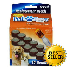 PediPaws Pet Replacements 12 Heads for Nail Clippers Dogs Trimmer As Seen on TV