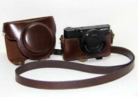 Leather Camera Case Bag Cover For Sony DSC-RX100 II M2 RX100III M3