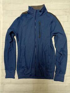 Lululemon Men running gym workout long sleeve Full Zip Jacket in Blue Size XL