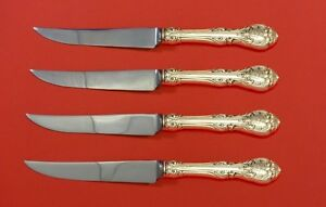 King Edward by Gorham Sterling Silver Steak Knife Set 4pc HHWS  Custom 8 1/2""