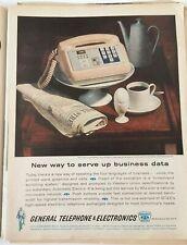 1962 General Telephone & Electronics Vintage Magazine Ad