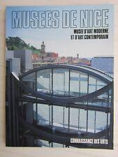CONNAISSANCE DES ARTS Spécial / NICE:musée d'art moderne et contemporain