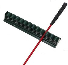 Flat Whip Rack Riding Crop Bat Holder Black Plastic - Light and Sturdy #21425